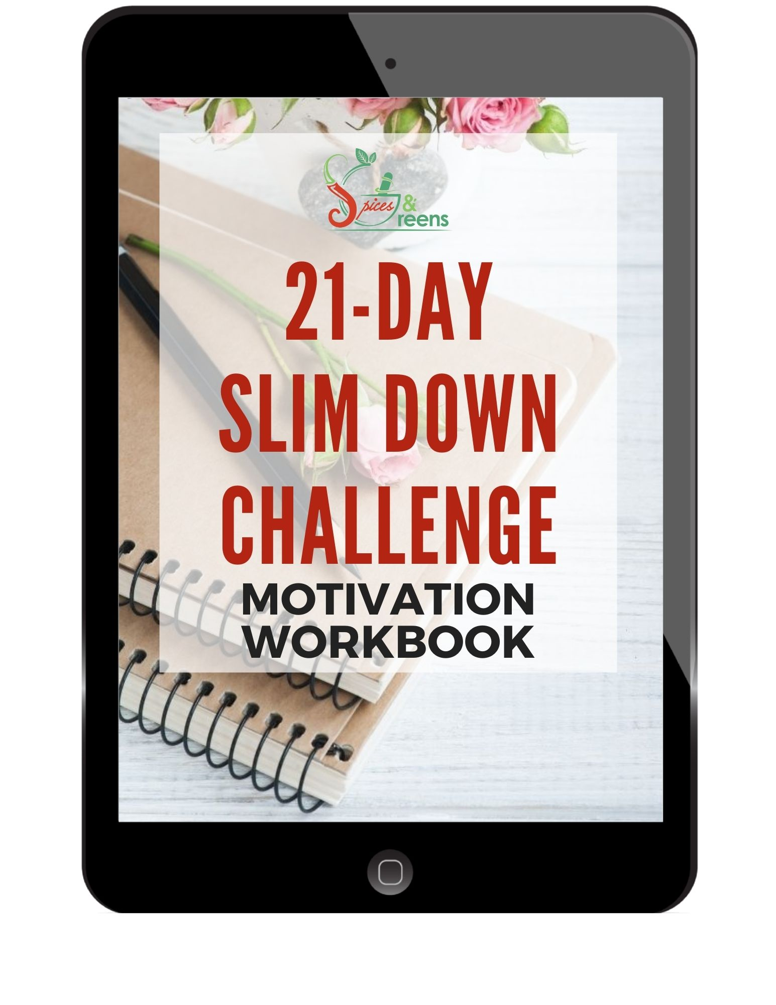21-Day Slim Down Challenge Motivation Workbook